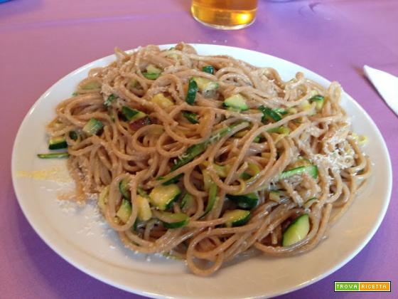 Con e Senza Bimby, Spaghetti alla Non Carbonara di Zucchine