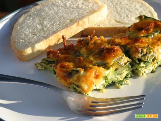 Sformato di zucchine e spinaci