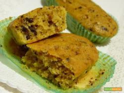 Mini plum cake al olio, con zucca, cioccolato e amaretti