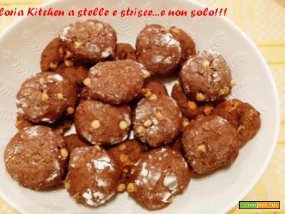 Biscotti al Farro con Zenzero e Gocce di Cioccolato Bianco di Gloria KitchenUSA