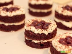 Torta Foresta Nera, mini porzioni