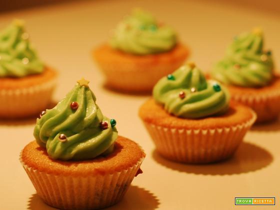 Cupcakes alberelli di Natale