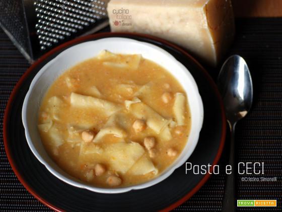 Pasta e ceci con i maltagliati, ricetta rustica
