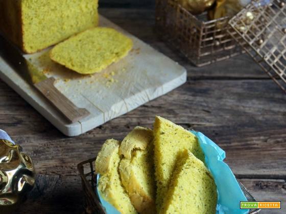 Pane al curry e semi di papavero con la macchina del pane (ma anche no)