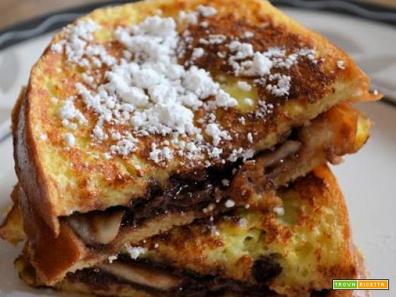 French toast nutella e banana