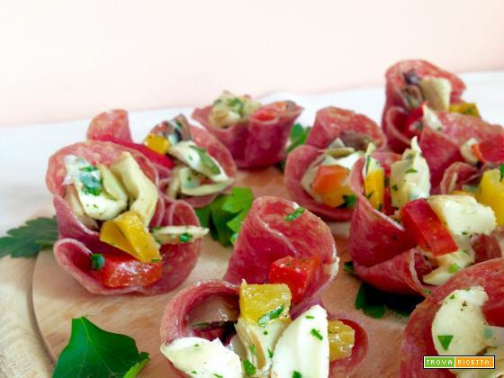 Barchette di Salame Ripiene