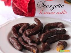 Scorzette di arancia candite ricoperte di cioccolato fondente