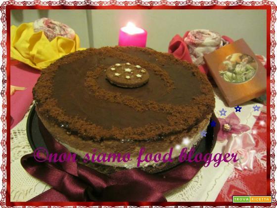 Cheesecake senza cottura alla Nutella e Mascarpone con base di Pan di Stelle
