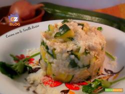 Risotto di zucchine e fette di pollo