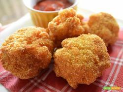 Polpette di patate ripiene prosciutto e mozzarella
