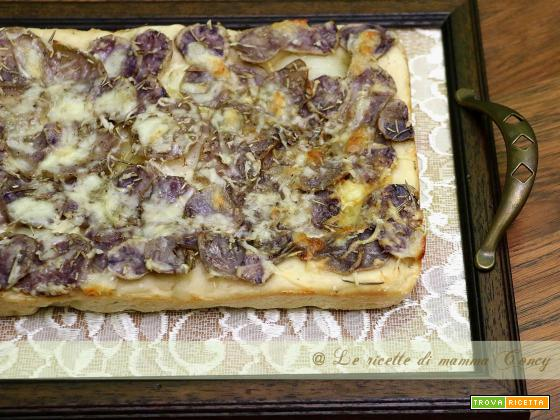 pizza di patate viola