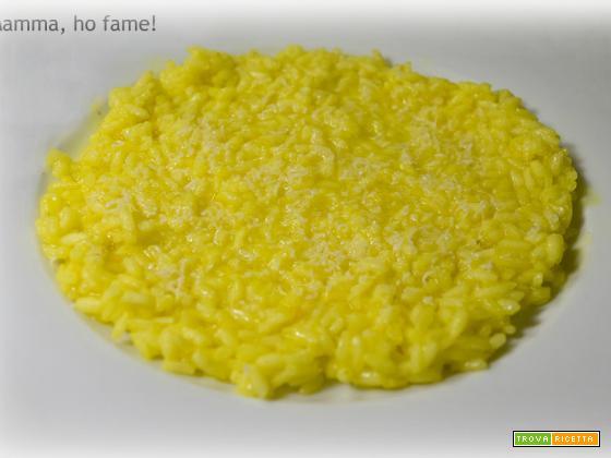 Risotto allo zafferano – versione vegetariana