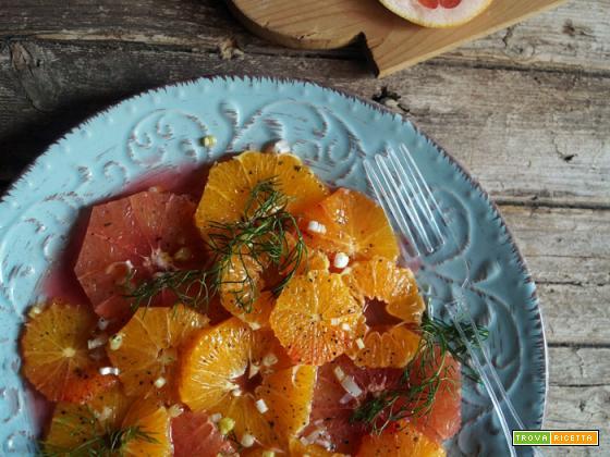 Insalata di agrumi e finocchietto selvatico