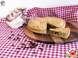 Torta salata con radicchio e pesce spada