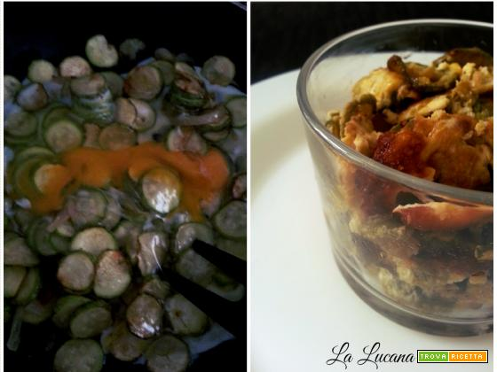 Zucchine con cipolla e uova