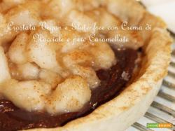 Frolla senza glutine n°2 e Crostata Vegan con Crema di Nocciole e Pere Caramellate (e il mio Cooking Show)