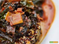quinoa con cavolo nero al pomodoro