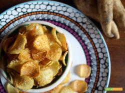 Chips di patate dolci al curry e fior di sale