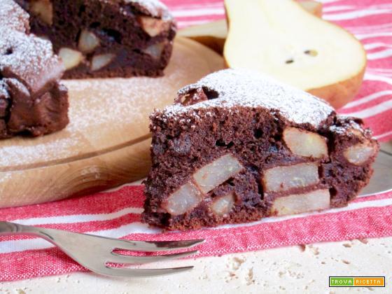 Torta con Cioccolato, Pere e Mascarpone