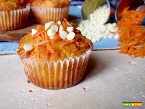 Muffin alle Carote e Cioccolato Bianco
