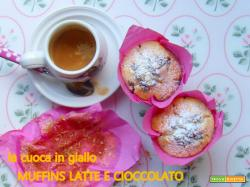 Tulip muffins al latte e cioccolato