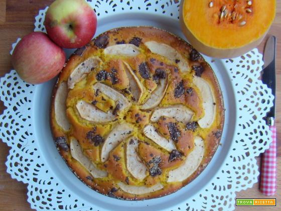 Torta zucca e mele