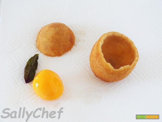 uovo fritto con sorpresa al Parmigiano