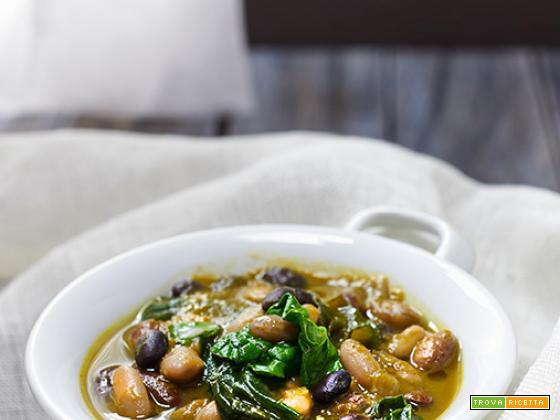 fagiolata agli spinaci e zucca