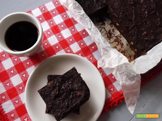 Brownies zucca e cioccolato (vegan, senza glutine)