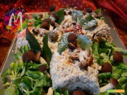 Tronchetto salato ai funghi e nocciole