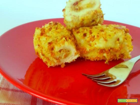 Rotolini di pollo al forno