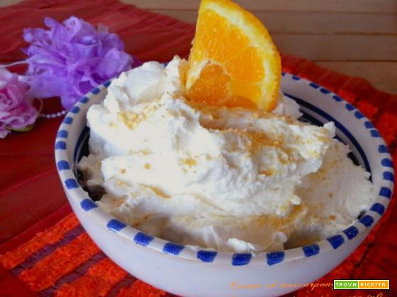 Crema al mascarpone e arancia