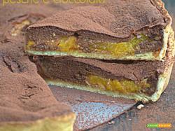 Crostata pesche e cioccolato