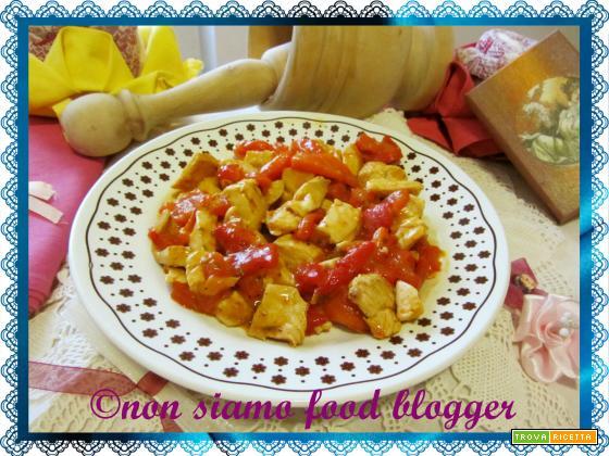 Petto di pollo con i peperoni light