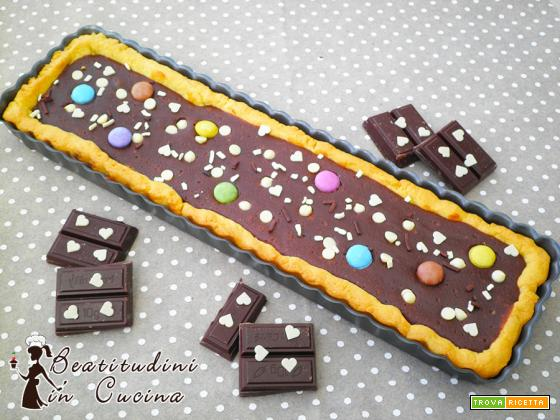 Crostata cioccolato fondente e philadelphia
