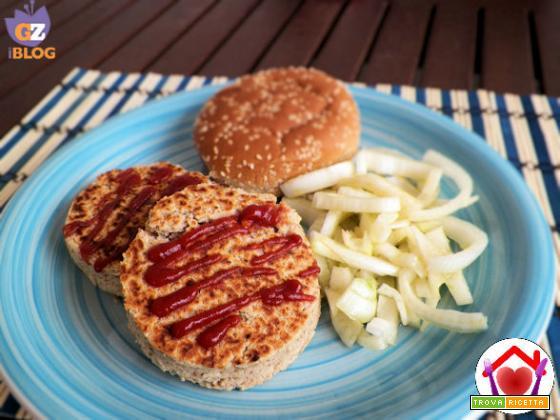 Hamburger di cannellini con uova