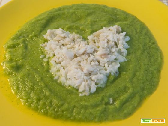 Cuore di platessa su crema di zucchine