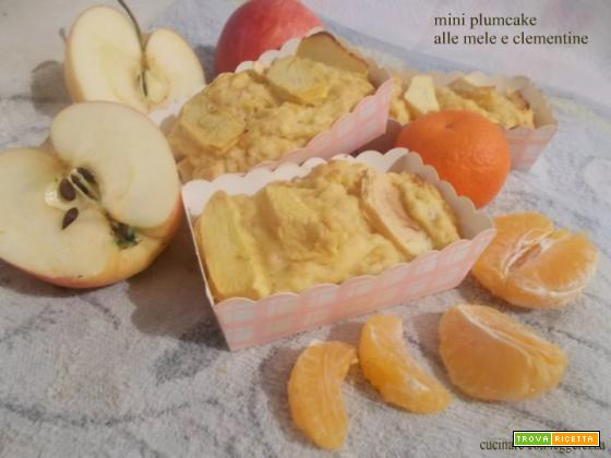 Mini plumcake alle mele e clementine