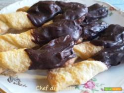 Torciglioni al cioccolato con millefoglie veloce