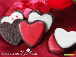 Cuori al cioccolato glassati