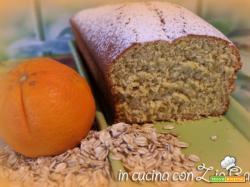 Plumcake con farina di avena e profumo di arancia