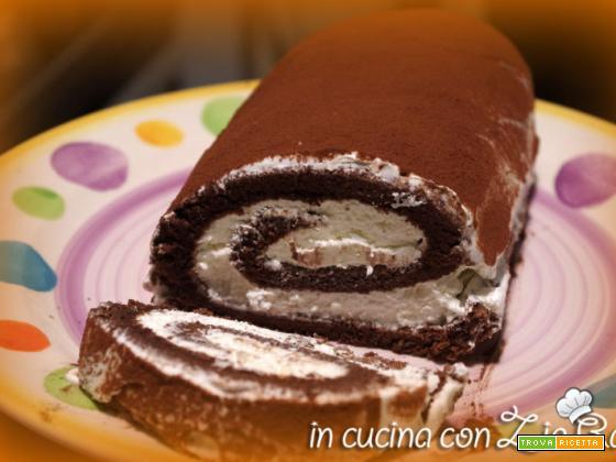 Rotolo al cacao con crema alla vaniglia