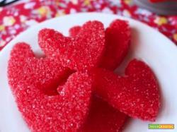 San Valentino...cuoricini di zucchero colorati