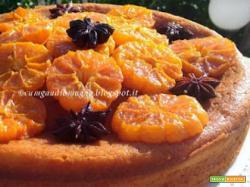 Torta alla ricotta con mandarini caramellati e anice stellato