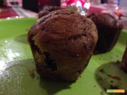 Con e Senza Bimby, Muffin con Crema al Cioccolato Fondente e Cuore Fondente di Crema al Pistacchio