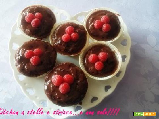 Muffin al Cioccolato Fondente con Cuore di Mirtilli di Gloria KitchenUSA