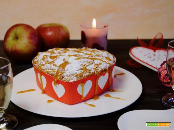 San Valentino: Torta di mele al caramello salato