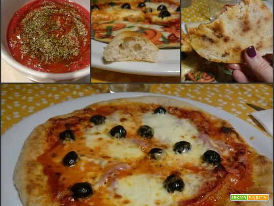 Pizza con lievito madre cotta con fornetto Ferrari