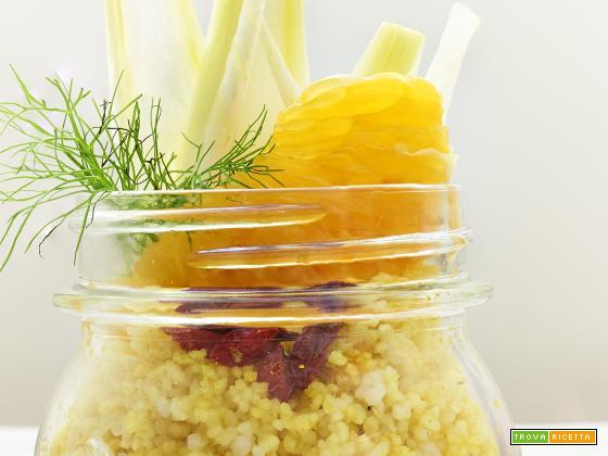 Cuscus con finocchi e spinaci all'arancia