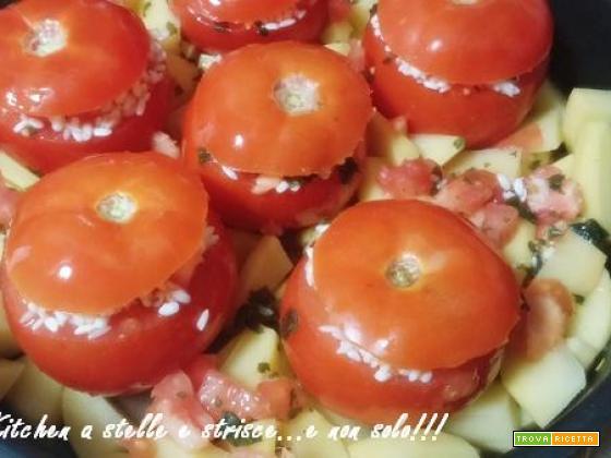 Pomodori Ripieni di Riso alla Romana di Gloria KitchenUSA